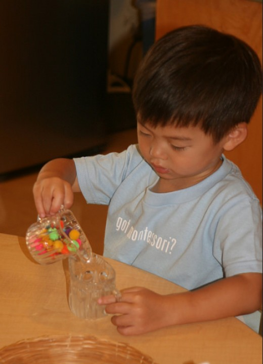 Montessori gives kids blocks of time to explore materials in a deep way instead of jumping from one activity to another.