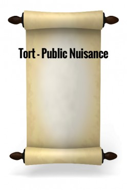 Tort - Public Nuisance