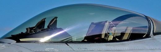 Aircraft canopy. The image is aircraft canopy of F-16.