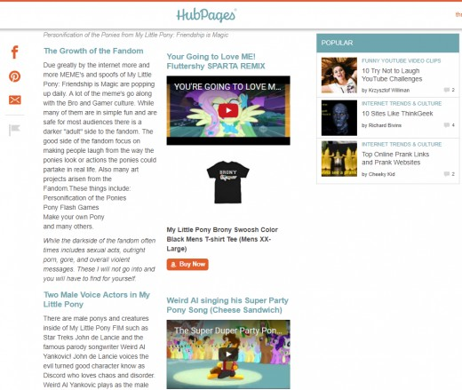 In 2017 Hubpages removed the ability to #float capsules to the right. This is one of the most major aesthetically focused updates to happen in Hubpages history.