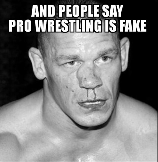 John Cena with a broken Nose