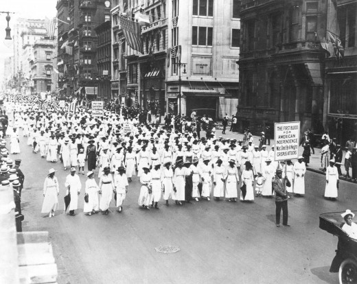 Black Women Marching in The Silent Protest Parade (Silent March) on July 28, 1917