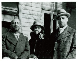W. E. B. Du Bois, Nina Du Bois, and James Weldon Johnson