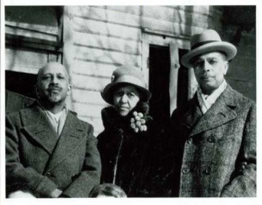 W. E. B. Du Bois, Nina Du Bois, and James Weldon Johnson