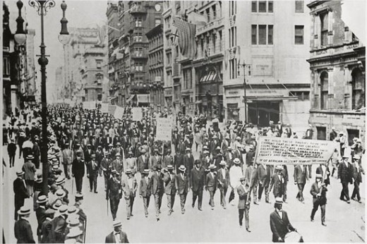 Men Marching in The Silent Protest Parade on July 28, 1917