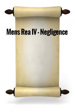 Mens Rea IV - Negligence (I) (Blyth v Birmingham Waterworks Co. (1856) )