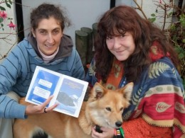 Cara from Italy with rescuer Dianne
