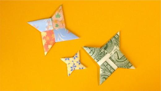 Shuriken ninja star paper folded origami designs