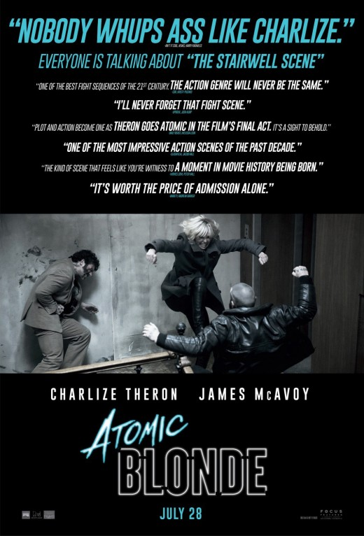 Atomic Blonde critics' poster