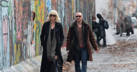 Charlize Theron (Lorraine Broughton) and James McAvoy (David Percival)