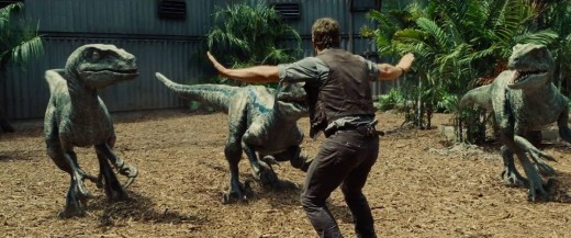 Chris Pratt as Owen; training raptors