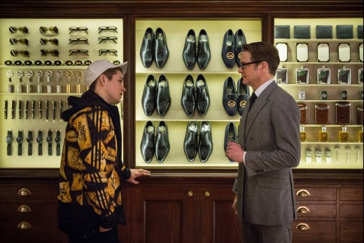 Eggsy and Harry talking about becoming an agent