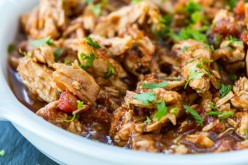 Slow Cooker Chicken Fajita with Low Carb Shells