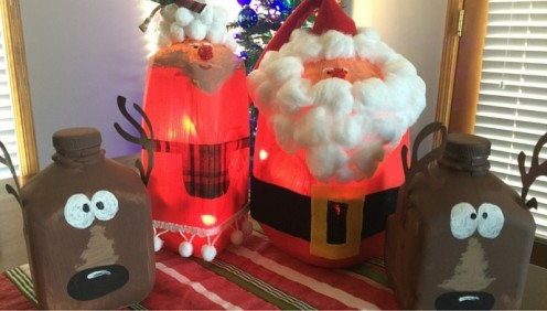 40 Awesome Crafts Using Milk Jugs