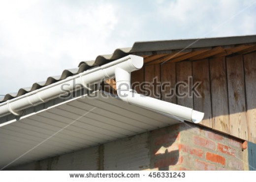 Soffit is used to cover the bottom edge of the roof overhang. This leaves a void area where wasps can enter through gaps and build their nests.
