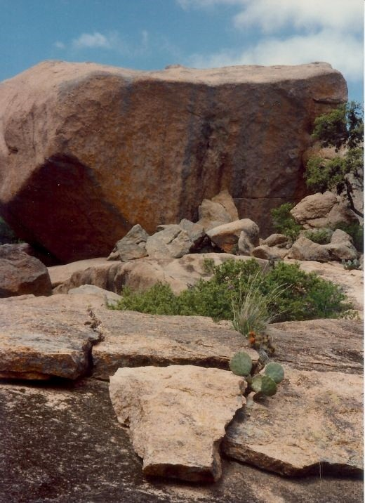 Enchanted Rock State Park...All of these rocks were at one time hidden under the ground.