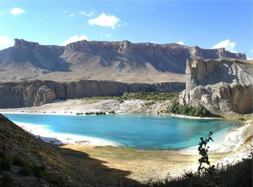 The Band-e Paneer Lake in Afghanistan; part of Band-e Amir.