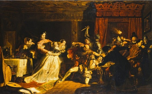 """The Murder of David Rizzio"" by William Allan in 1833."