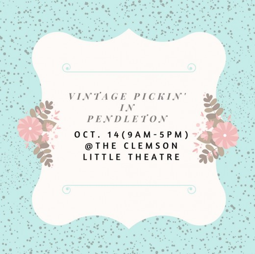 Take a stroll back in time and enjoy the first ever Vintage Pickin' in Pendleton where you will find treasures from the past and creations re-purposing past treasures.