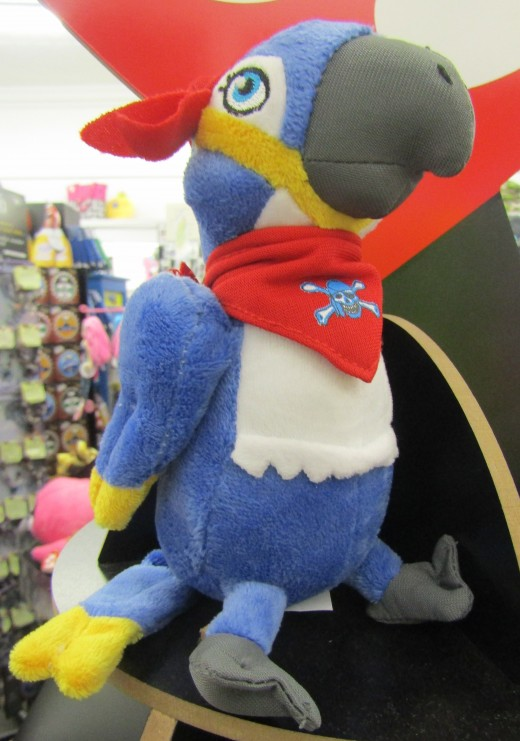 Parrot and pirate blended together as a new Ty Beanie Baby. - Photo by George Sommers