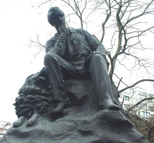 Statue of Lord Byron at Hyde Park Corner, London