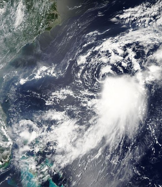 Tropical Storm Franklin, an example of a strongly sheared tropical cyclone in the North Atlantic hurricane basin during 2005