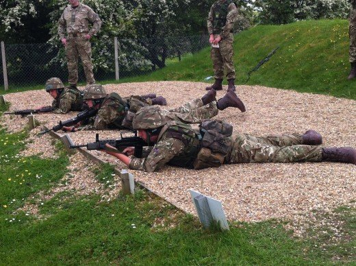 Keeping the soldiers on their toes - Riflemen on the range...