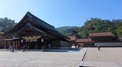 Izumo Shrine in Shimane Prefecture, Japan. The shrine is one of most important in Shintoism.