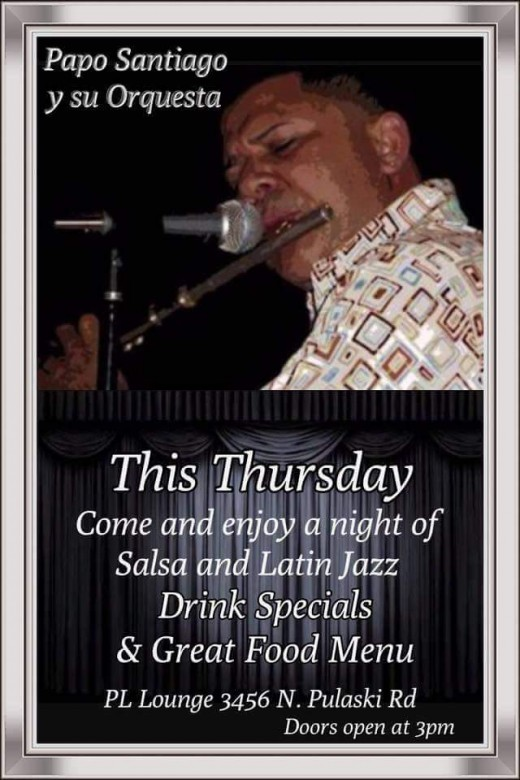 Live salsa band at PL Lounge on Thursdays, Papi Santiago