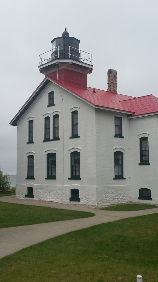 The Grand Traverse Lighthouse is actually just north of Northport