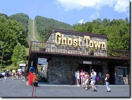 The Depot of Ghost Town where you get on the chair lifts up to the very top to get into Ghost Town beyond.