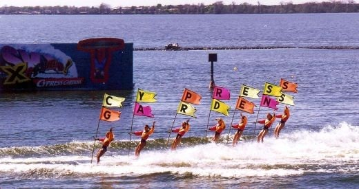 A picture from the water ski show that we got to enjoy at Cypress Gardens.