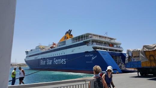 Our Ferry to Paros