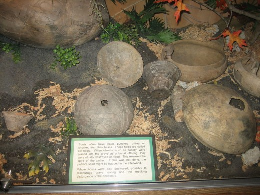 Native American pottery in Indian Temple Mound Museum, Fort Walton Beach, Florida