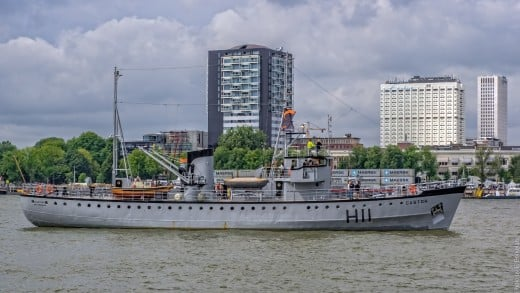 The MLV Castor made to look like the destroyer MKS Basilisk that was sunk at Dunkirk in an air attack.