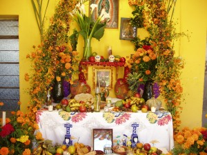 A beautiful ofrenda in Oaxaca, Mexico