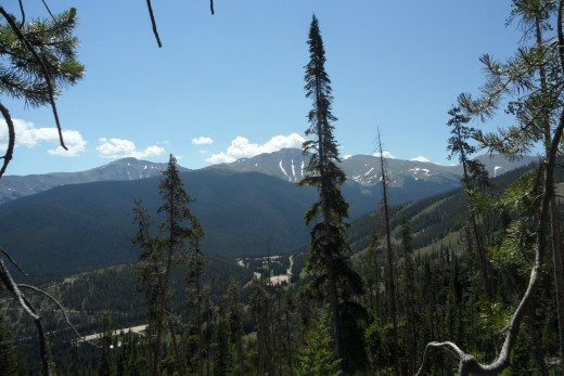 View from top of Winter Park, Colorado