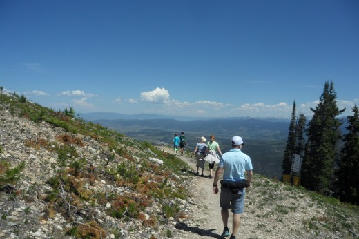 On the trail down to Winter Park