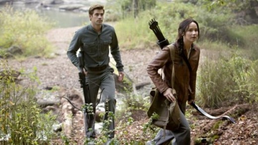 Katniss hunting with Gale