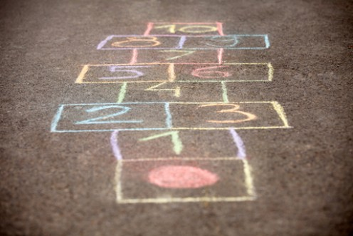One of a variety of 'courts' for Hopscotch