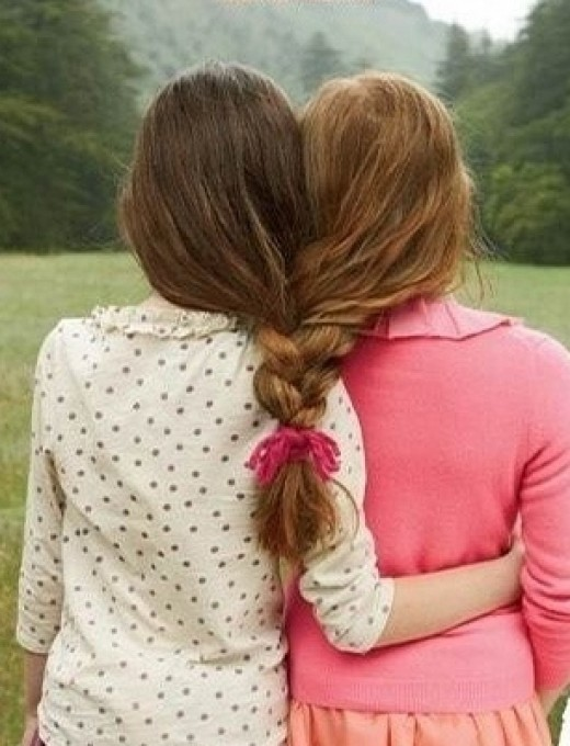 Although distance might separate two friends, in their hearts, they will never be separated.