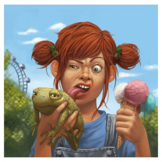 Isn't she a little young to be licking toad?