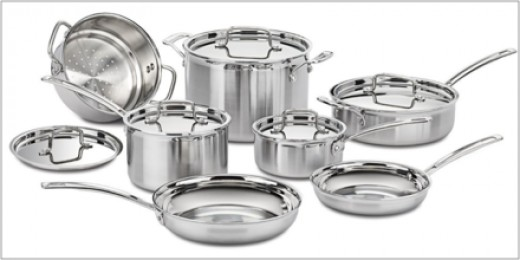 Stainless steel is often used for cookware