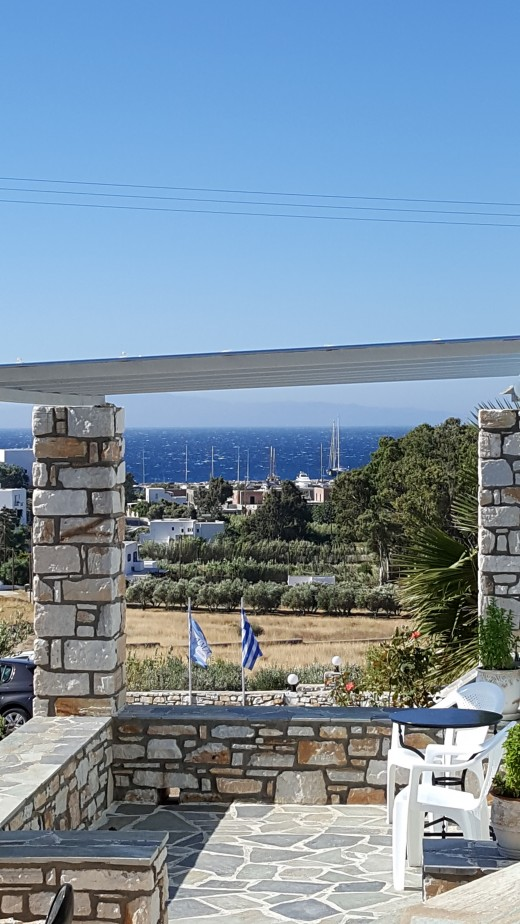 View from our Apartment towards Piso Livadi village and bay.