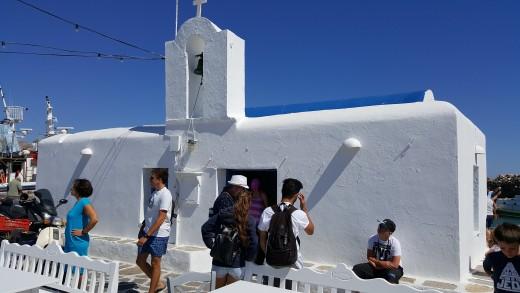Agios Nikolaos Harbour Church in Naoussa