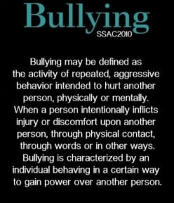 Bullies Are All Around Us - Don't Be
