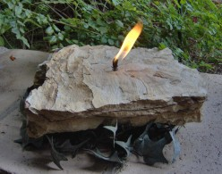 Earthy Elegance - How to Make a Rock Candle