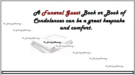 Funeral Reception Guest Book/Condolences