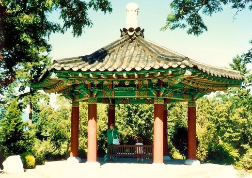 Korean Pavilion at Van Dusen Botanical Garden