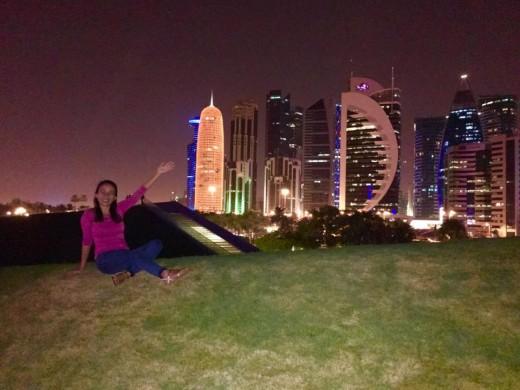 Enjoying the beautiful landscape of Qatar, Al Corniche